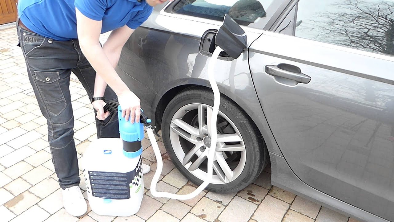 How To Use An Adblue Pump To Refill Your Adblue Tank Youtube