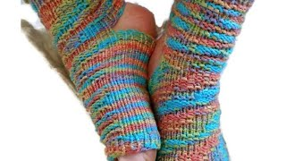 VIDEO CLIP   Yoga Socks on ANY Sock Loom   Cuff