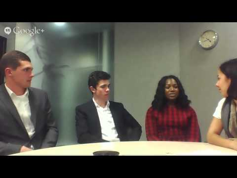 Hangout with Consulting Industrial Placement Interns