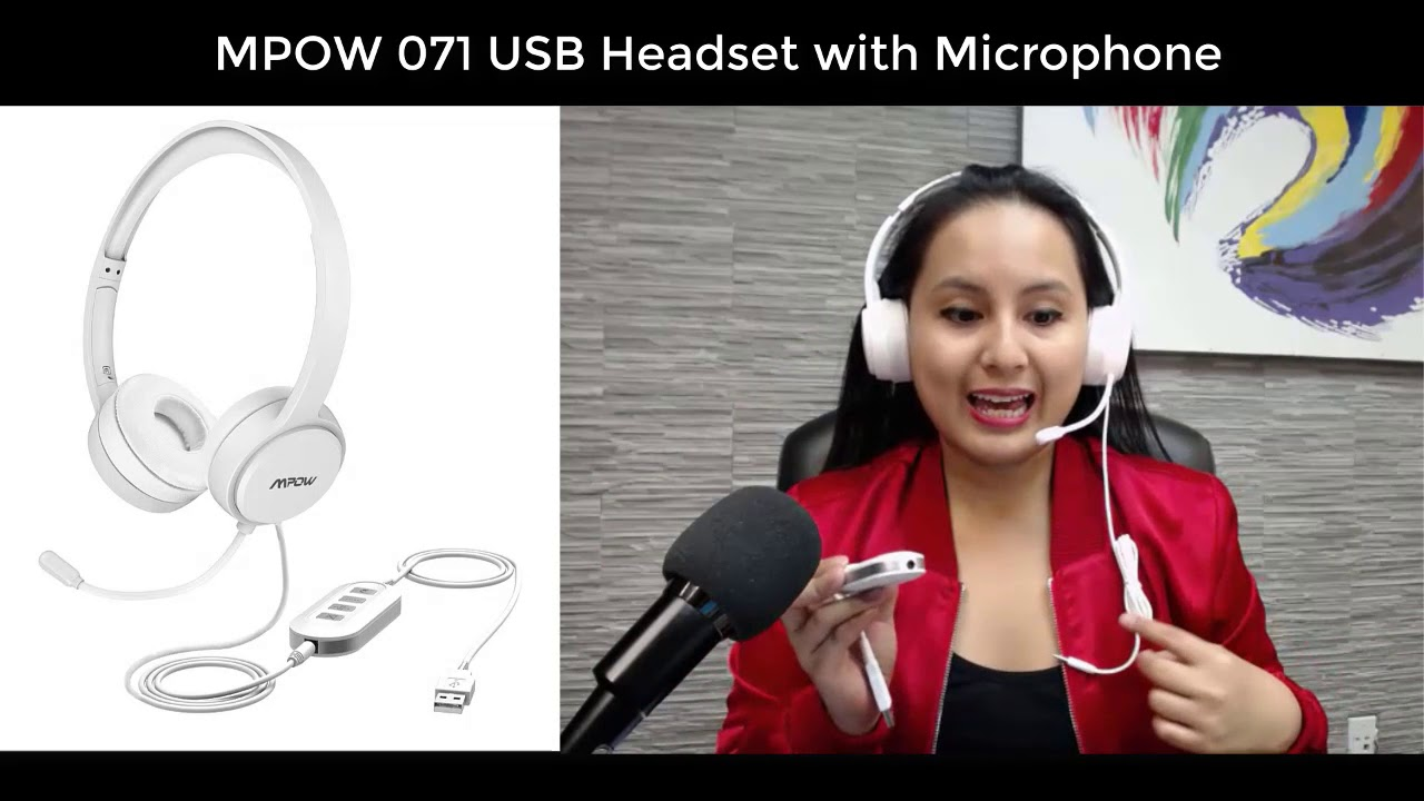 MPOW 071 USB Headset with Mic Test // Unboxing // Review 🎧🎧🎧