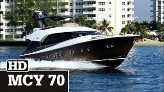 Monte Carlo Yachts | MCY 70 running at Fort Lauderdale.