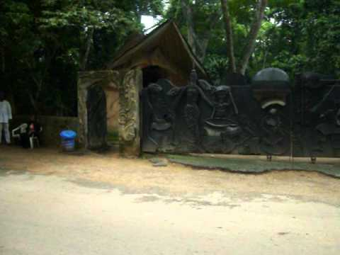 THE GATES TO THE OSUN GROVE IN OSHOGBO OSUN STATE NUGERIA