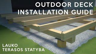 Deck installation guide | Decking | Lauko terasos statyba