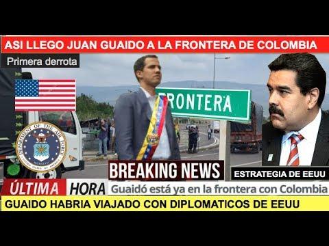 Asi llegó Juan Guaido a la frontera y humilla a Maduro