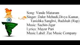 "Gambar cover ""VANDE MATARAM"" Full Song With Lyrics ▪ Daler Mehndi, Badshah ▪ Sachin-Jigar ▪ ABCD 2"
