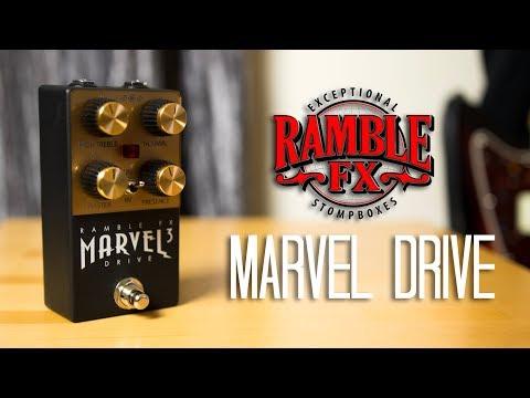 Ramble FX - Marvel Drive (3 Guitars) Pedal Demo
