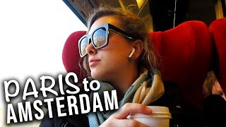 Paris to Amsterdam by train: AMSTERDAM VLOG DAY ONE