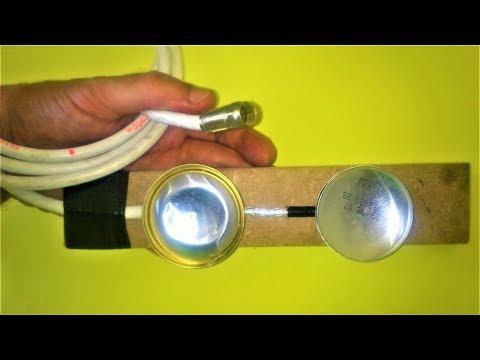 ANTENA DIGITAL FULL HD feita com latinhas ( antenna made with can )