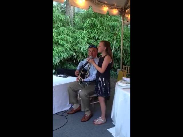 Dad and Alanna sing
