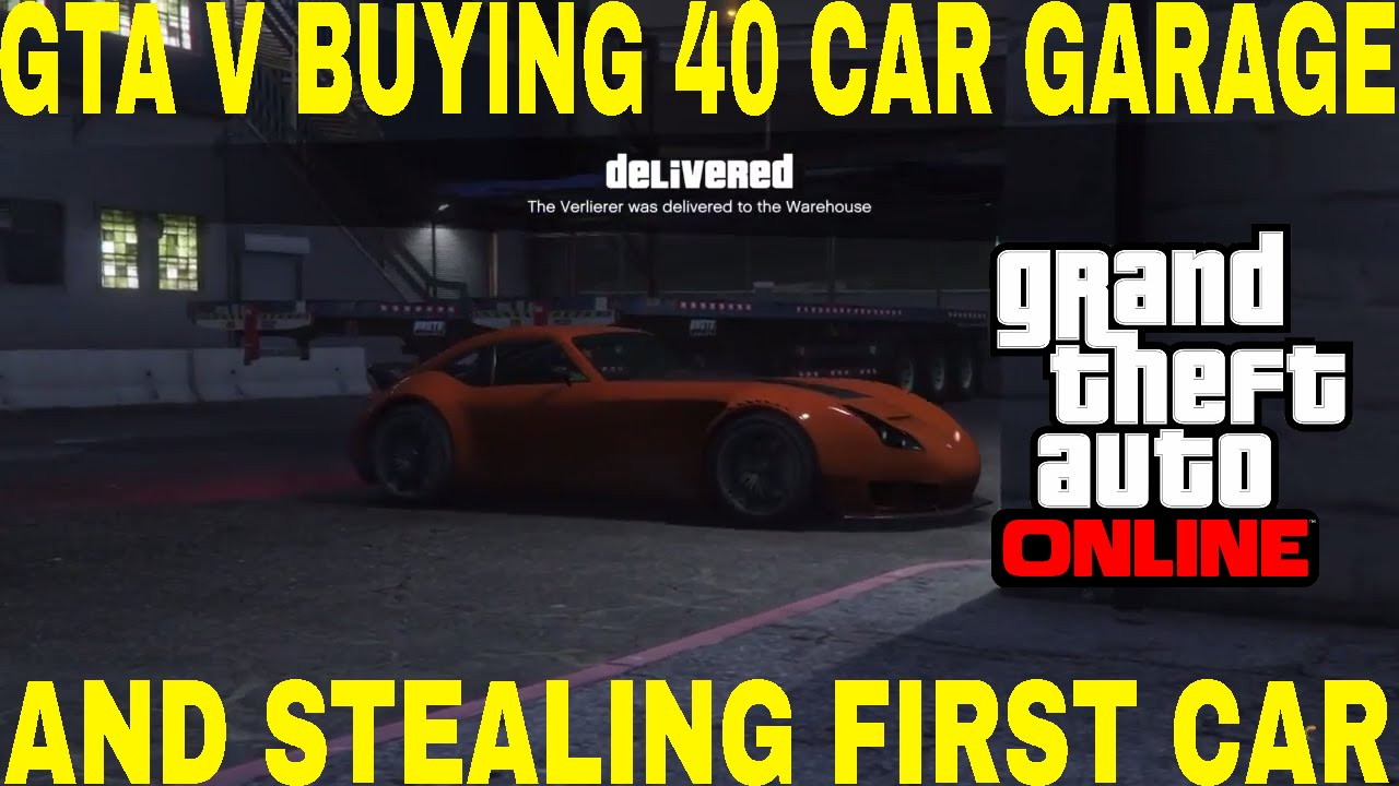 gta v buying 40 vehicle warehouse and stealing 1st car. Black Bedroom Furniture Sets. Home Design Ideas