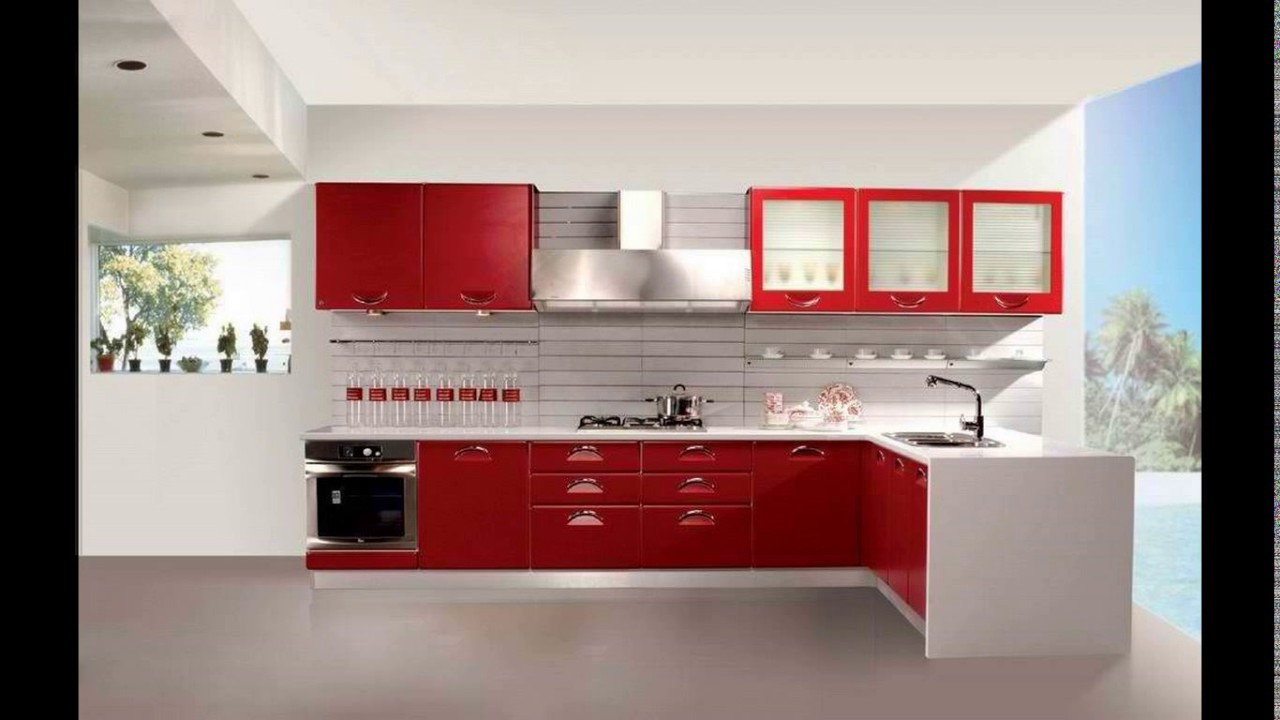 Kitchen furniture design in india - YouTube