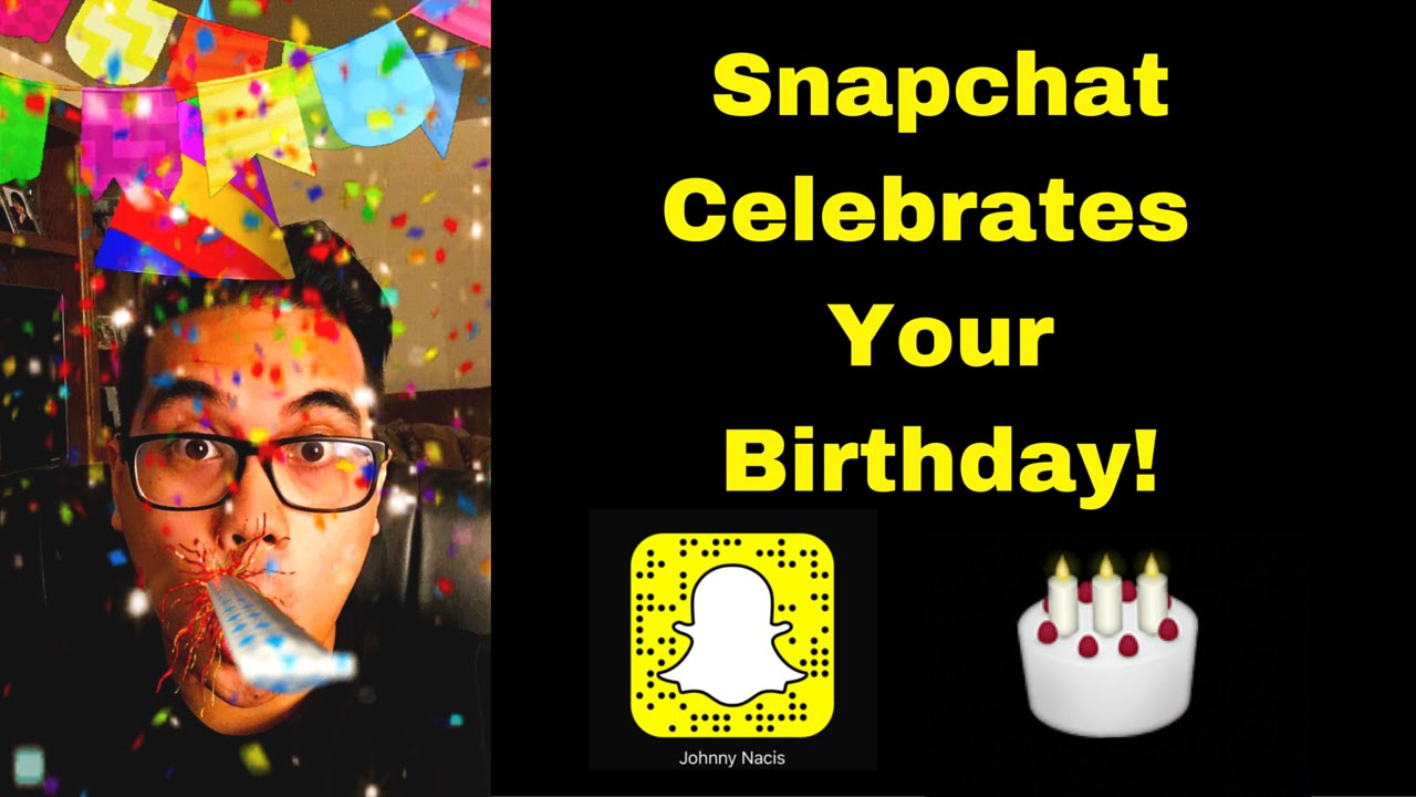 How To Get The Birthday Cake On Snapchat