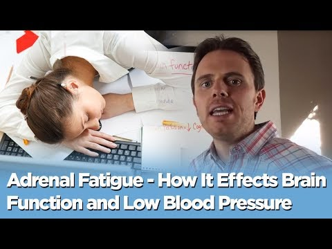 Adrenal Fatigue - How It Effects Brain Function and Low Blood Pressure