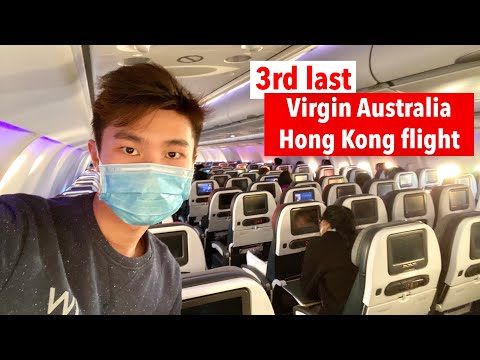 EMOTIONAL VIRGIN Australia Flight: VA82 Hong Kong To Sydney (A330 ECONOMY Class)