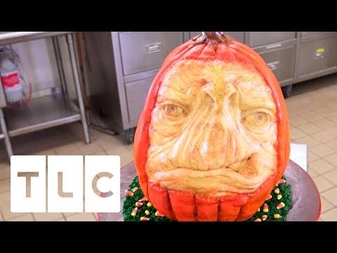 Scary Halloween Pumpkin Cake  Cake Boss