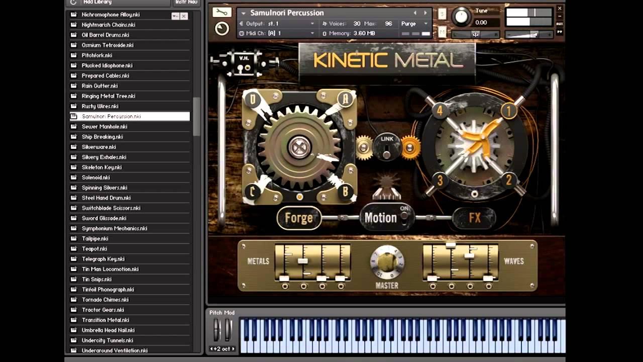 native instruments kinetic metal kontakt synthic4te