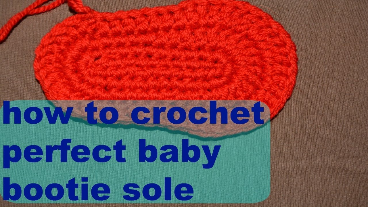 Crochet shoe sole for babies and children tutorial (english) youtube.