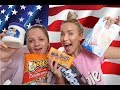 BRITISH TRYING AMERICAN CANDY CHALLENGE! (TASTE TEST)