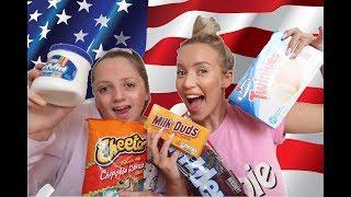 BRITISH TRYING AMERICAN CANDY CHALLENGE! (TASTE TEST)
