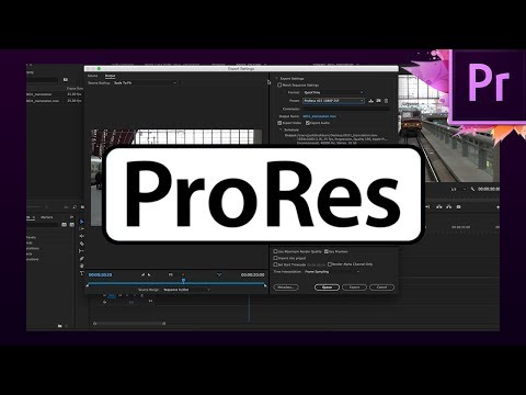 How To Export Videos Using ProRes In Premiere Pro CC