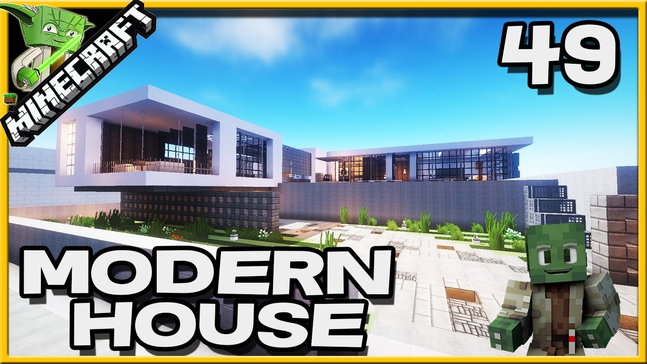 Minecraft modern house 49 youtube for Modern house 49