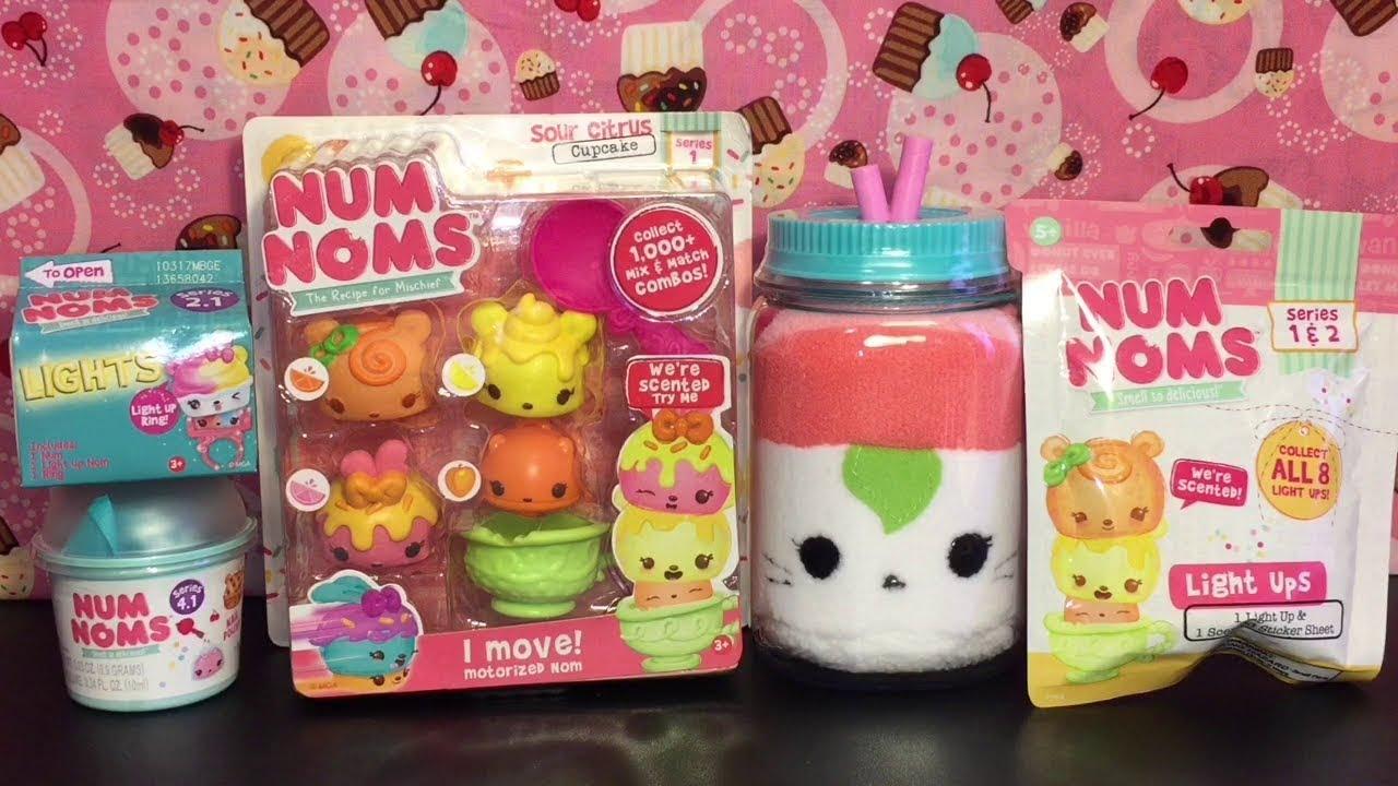 Superior Num Noms Blind Bags Sushi Plush Sour Citrus Cupcake Pack Toy Opening