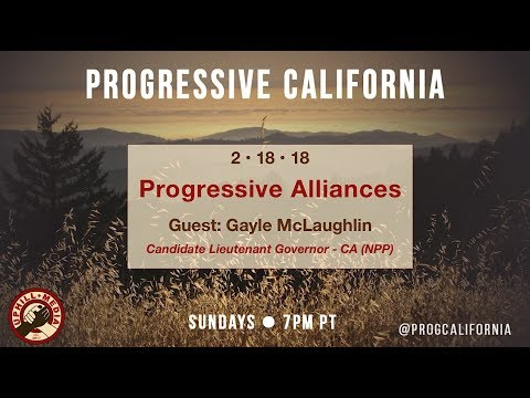 Progressive California with Laura & Joe - Guest Gayle McLaughlin - Cand. Lt. Governor ( CA)