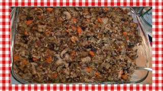 Gluten Free Wild Rice & Sausage Stuffing Recipe ~ Noreen's Kitchen