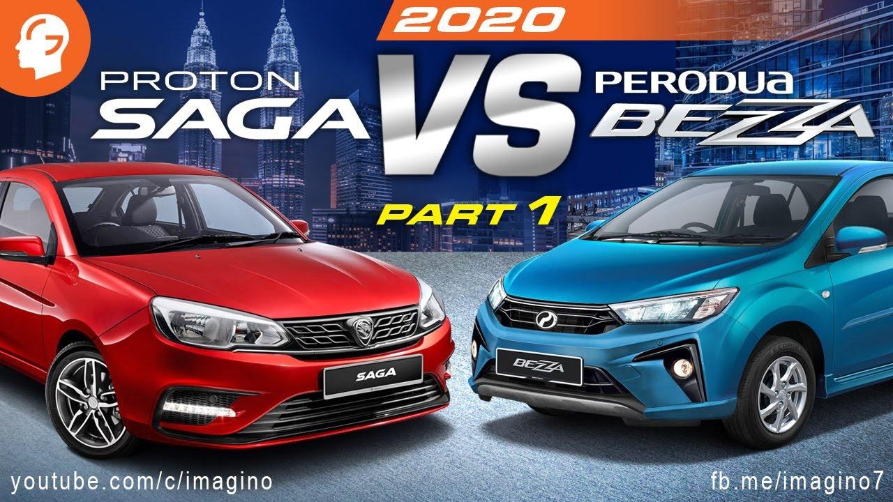 Perodua Bezza Vs Proton Saga 2020 Part 2 Youtube