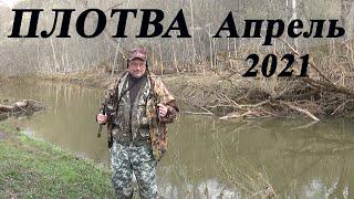 120 Рыбалка на поплавок апрель 2021 Рыбалка на плотву весной на малой реке в Тульской области