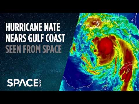 Hurricane Nate Seen From Space