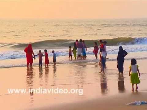 Wetting their feet at Nattika surf