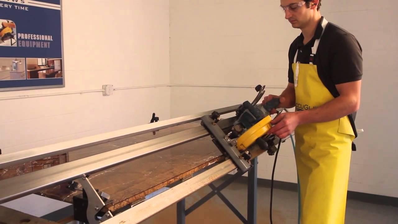 Miter Edge Cut In Quartz Amp Granite How To For Kitchen