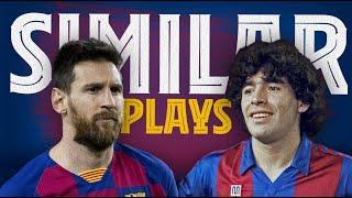 Messi and Maradona two Argentines two geniuses BarçaNapoli