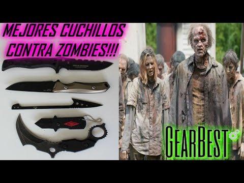MEJORES CUCHILLOS CONTRA ZOMBIES!!! Unboxing de cuhillos de supervivencia - Carlos Te - Gearbest