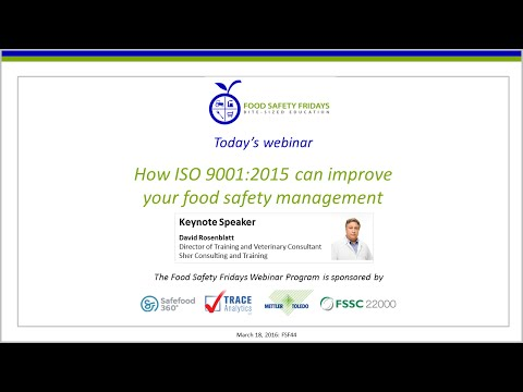 How ISO 9001:2015 can improve your food safety management