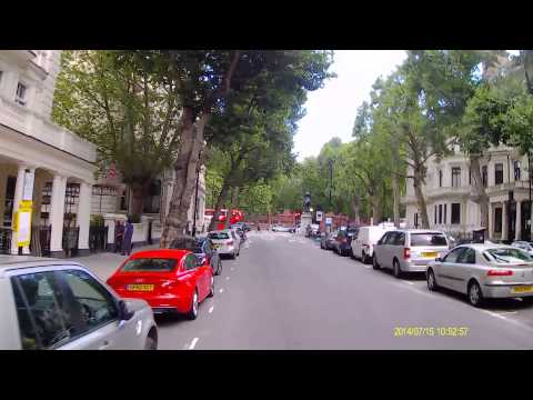 Cycling from Fulham to Fitzrovia in London using minor roads