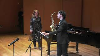 Daniel Vega - Saxophone Recital