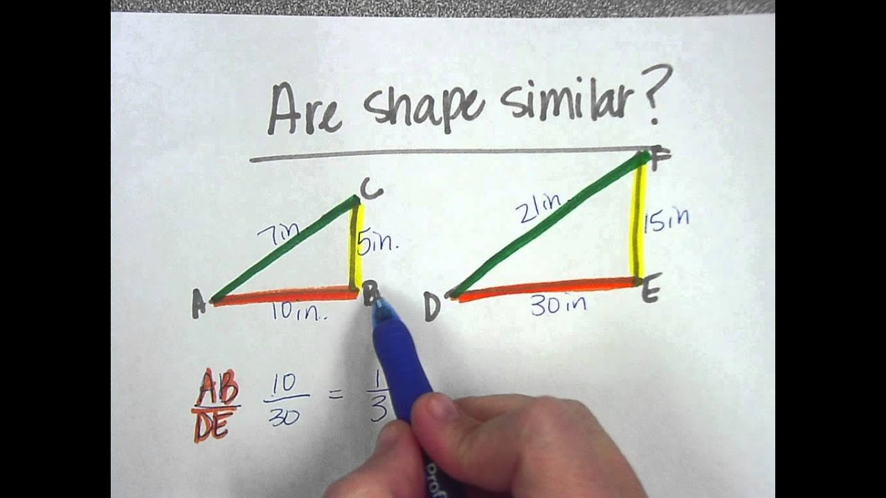 Similar Shapes and Proportions - YouTube