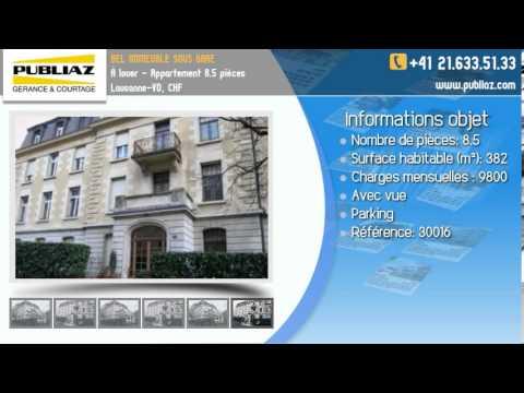 À Louer - Appartement 8.5 Pièces Lausanne-VD, CHF