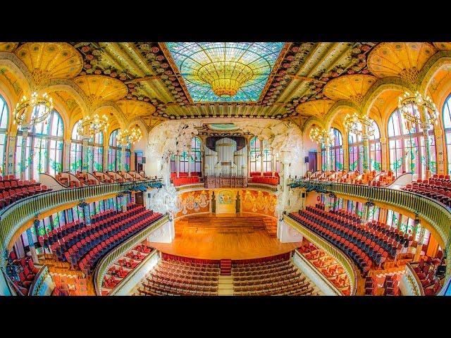 A Walking Tour Of The Palau De La Música Catalana Barcelona Youtube
