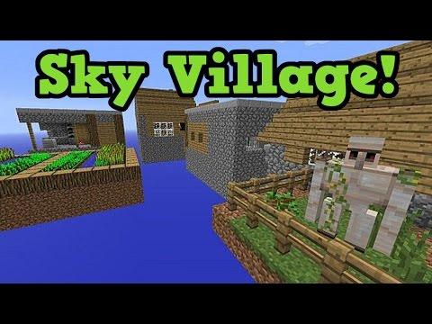 Minecraft - SKY VILLAGE Live! - Floating Village Survival