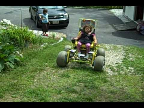 Katiebot iii off road wheelchair with wheeleez wheels for How to motorize a wheelchair