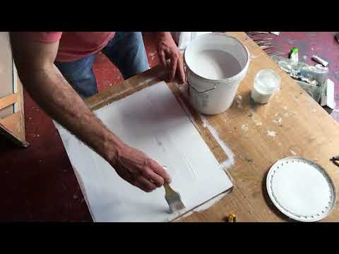 How to make a painting surface with an MDF board and Gesso