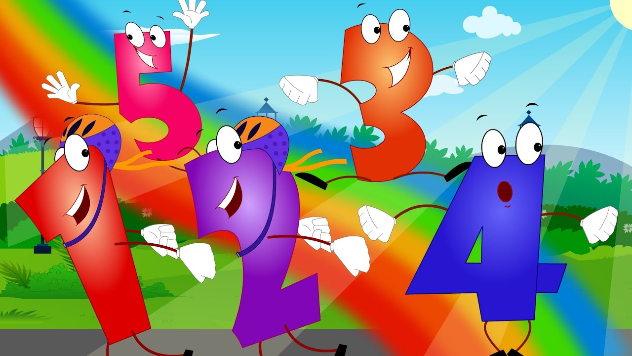 Abc Baby Cartoon Five Little Numbers Number Songs For Children 123