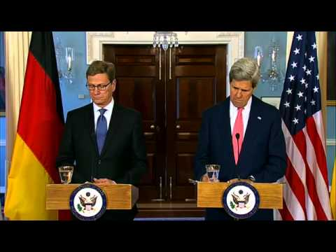 Video ; US Secretary Kerry Delivers Remarks With German Foreign Minister Westerwelle