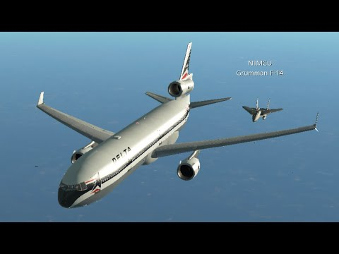 [ESCORTED BY F-14] Infinite Flight GLOBAL: MD-11 | Atlanta (KATL) - Toronto (CYYZ) | Delta Airlines!