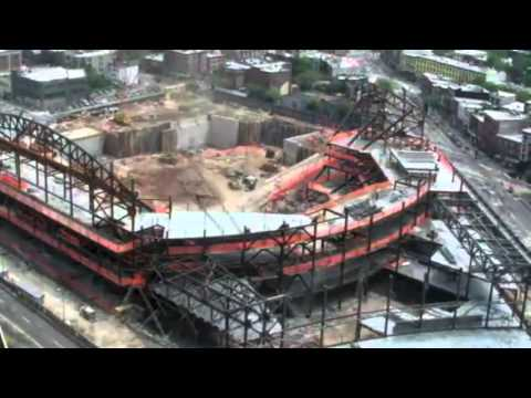 Barclays Center Time Lapse Featuring Dissimilar Metal Design Weathering Steel