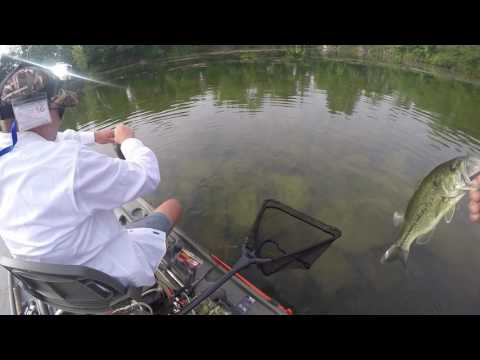 Bass Fishing from a Pelican Bass Raider Boat.