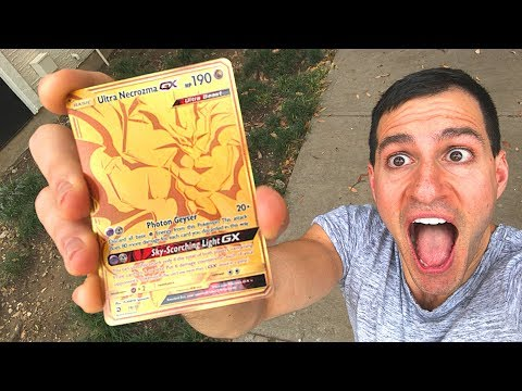 I FINALLY PULLED THE GOLDEN POKEMON CARD! ($100+)